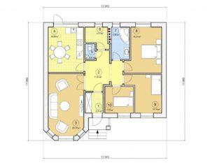 Проект одноэтажного дома, 99,90 м2