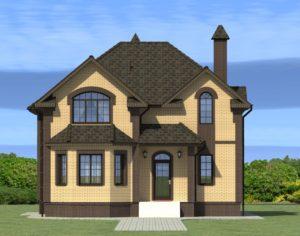 Проект дома с мансардой, 166,04 м2