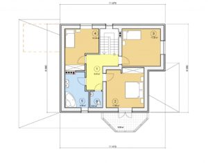 Проект дома с мансардой, 161,72 м2