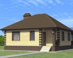 Проект одноэтажного дома, 76,43 м2
