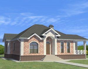 Проект одноэтажного дома, 120,00 м2
