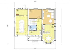 Проект дома с мансардой, 177,79 м2