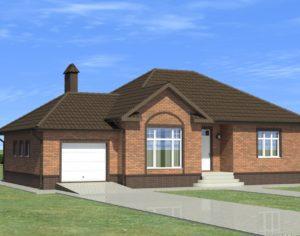 Проект одноэтажного дома, 154,55 м2