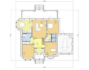 Проект одноэтажного дома, 178,89 м2