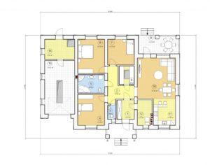 Проект одноэтажного дома, 173,33 м2