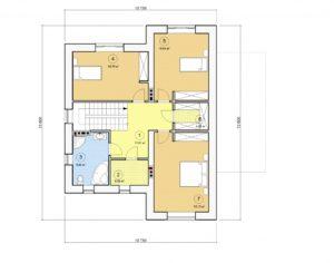 Проект двухэтажного дома, 193,72 м2