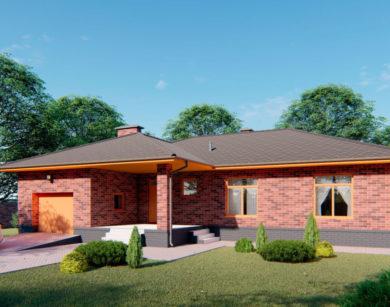 Проект одноэтажного дома, 199,36 м2