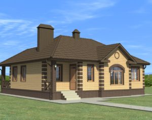 Проект одноэтажного дома, 118,80 м2