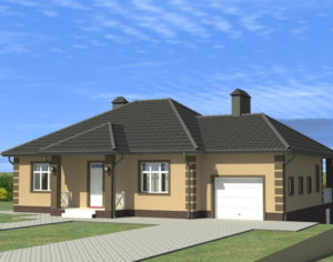 Проект одноэтажного дома, 212,76 м2