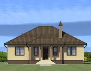 Проект одноэтажного дома, 141,11 м2