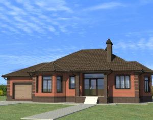 Проект одноэтажного дома, 189,19 м2