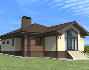 Проект одноэтажного дома, 161,28 м2