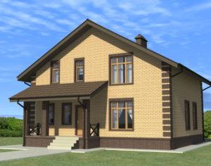 Проект дома с мансардой, 184,28 м2