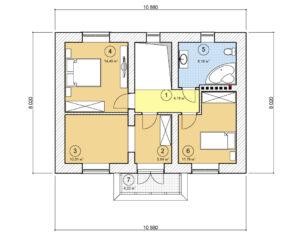 Проект двухэтажного дома, 120,26 м2