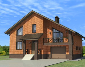 Проект дома с мансардой, 235,49 м2