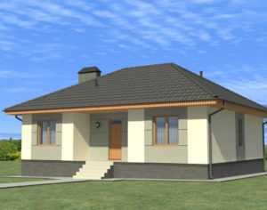 Проект одноэтажного дома, 120,82 м2