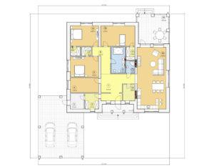 Проект одноэтажного дома, 202,70 м2