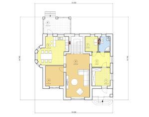 Проект двухэтажного дома, 191,52 м2