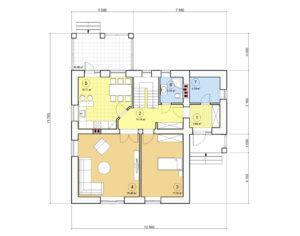 Проект дома с мансардой, 161,78 м2