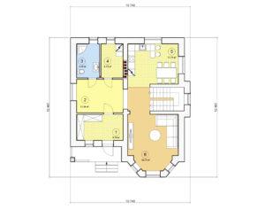 Проект дома с мансардой, 160,07 м2