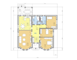 Проект одноэтажного дома, 150,94 м2