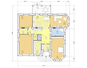 Проект одноэтажного дома, 220,05 м2