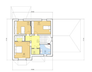 Проект дома с мансардой, 206,70 м2