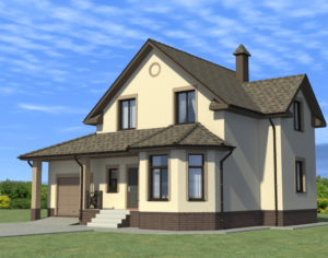 Проект дома с мансардой, 136,53 м2