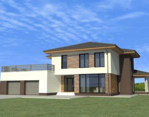 Проект двухэтажного дома, 245,42 м2