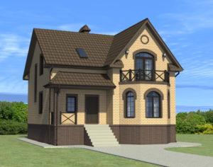 Проект дома с мансардой, 170,49 м2