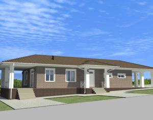 Проект одноэтажного дома, 150,26 м2