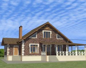 Проект одноэтажного дома, 137,57 м2
