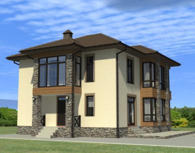 Проект двухэтажного дома, 186,64 м2