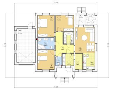 Проект одноэтажного дома, 146,18 м2