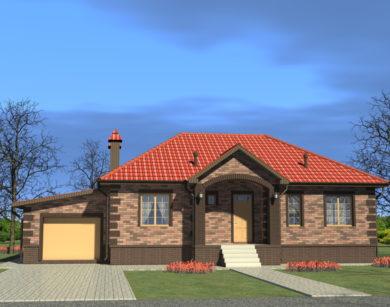 Проект одноэтажного дома, 164,91 м2