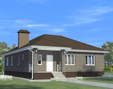 Проект одноэтажного дома, 117,49 м2