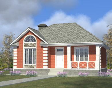 Проект одноэтажного дома, 84,60 м2