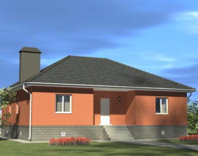 Проект одноэтажного дома, 114,03 м2