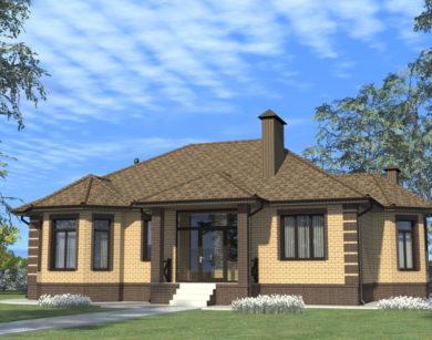 Проект одноэтажного дома, 157,12 м2