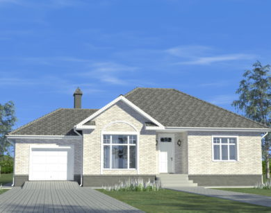 Проект одноэтажного дома, 149,10 м2