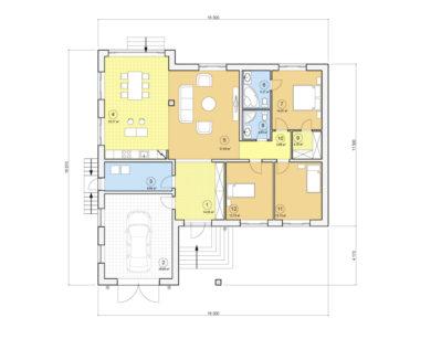 Проект одноэтажного дома, 179,33 м2