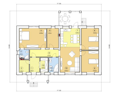 Проект одноэтажного дома, 132,40 м2