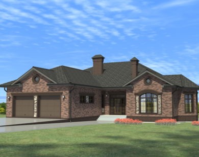 Проект одноэтажного дома, 330,96 м2