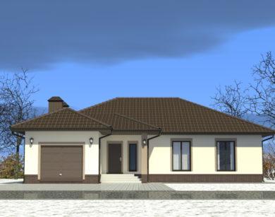 Проект одноэтажного дома, 177,54 м2
