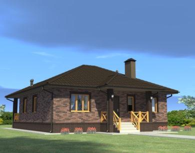 Проект одноэтажного дома, 99,92 м2