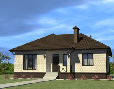Проект одноэтажного дома, 99,97 м2