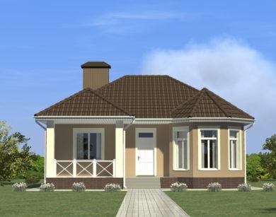 Проект одноэтажного дома, 99,71 м2