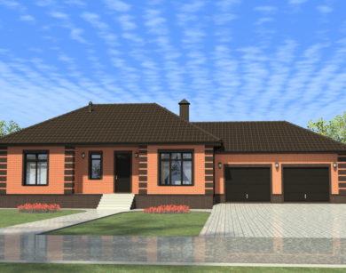 Проект одноэтажного дома, 188,11 м2