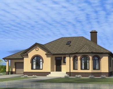 Проект одноэтажного дома, 201,53 м2