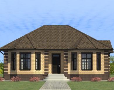 Проект одноэтажного дома, 136,76 м2